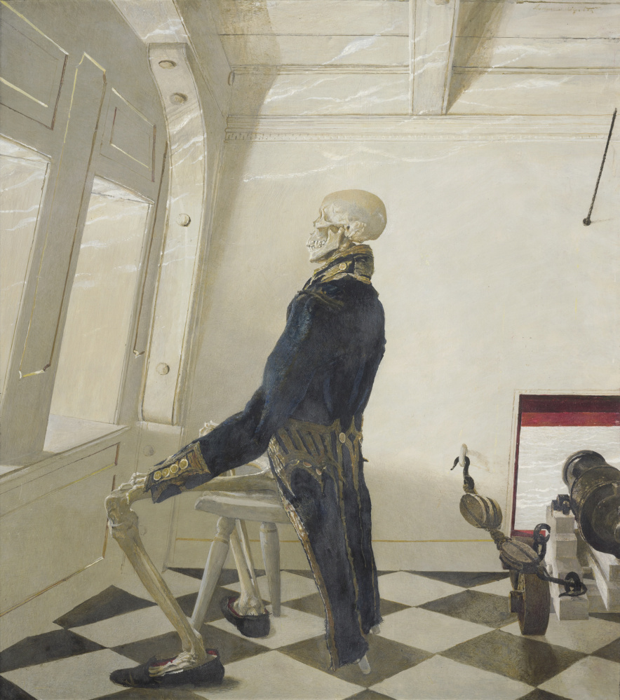 "Andrew Wyeth, ""Dr. Syn,"" 1981, tempera on panel, © Farnsworth Art Museum"