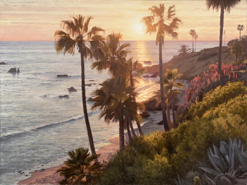 "Jay Moore, ""Sunset in Laguna,"" oil on linen, 30 x 40 in. © Trailside Galleries"