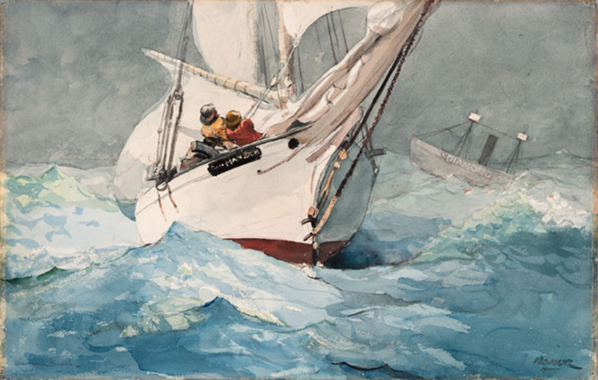 """Winslow Homer, """"Diamond Shoal,"""" 1905, watercolor on paper, private collection"""