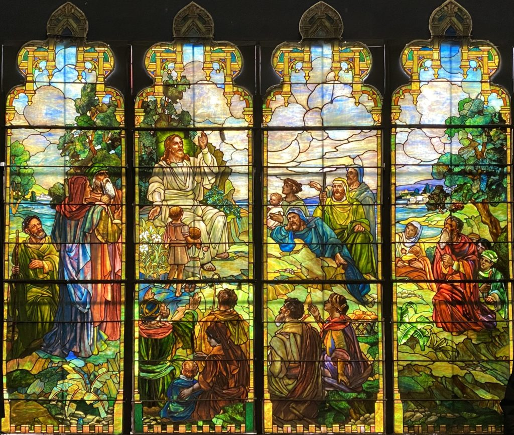 Discussion: Sermon on the Mount stained glass