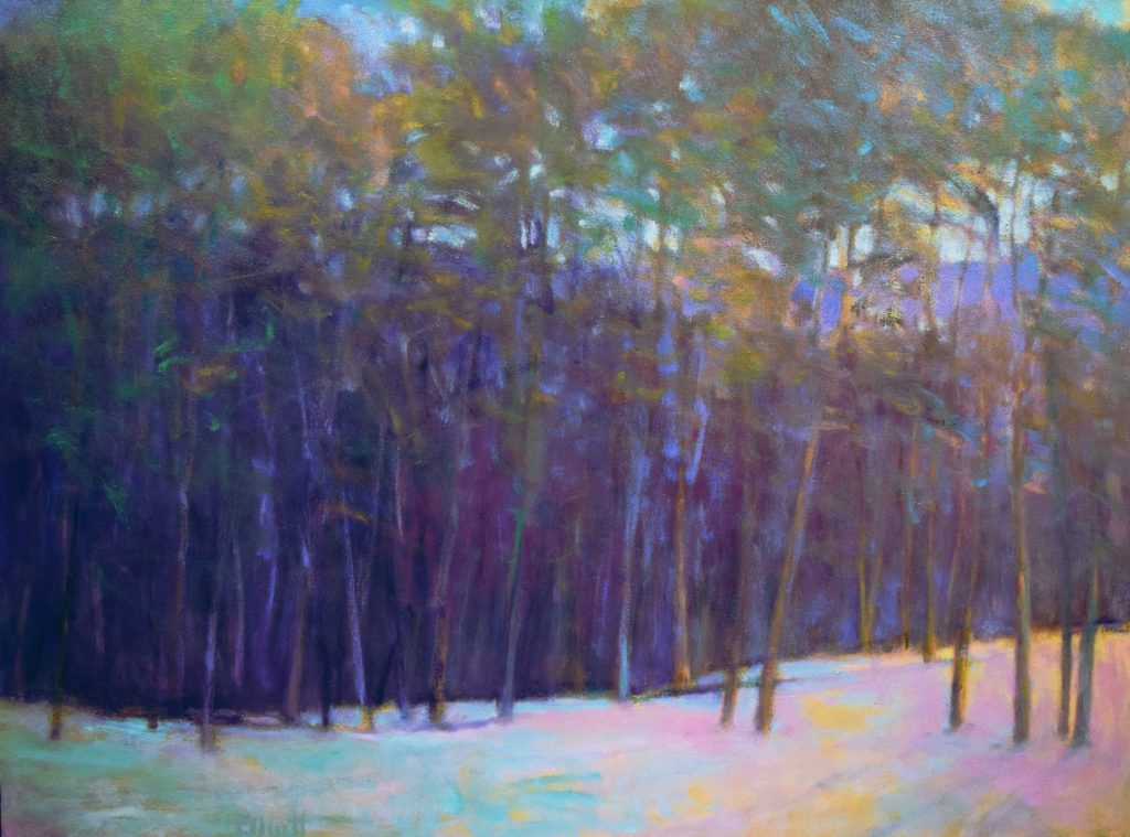 """Winter's Morning,"" 2016, Oil on canvas, 36 x 48 inches"