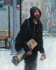 Donald Curran Street Life 10 x 8 Oil $800