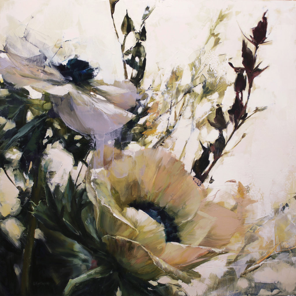 Art collecting - floral paintings