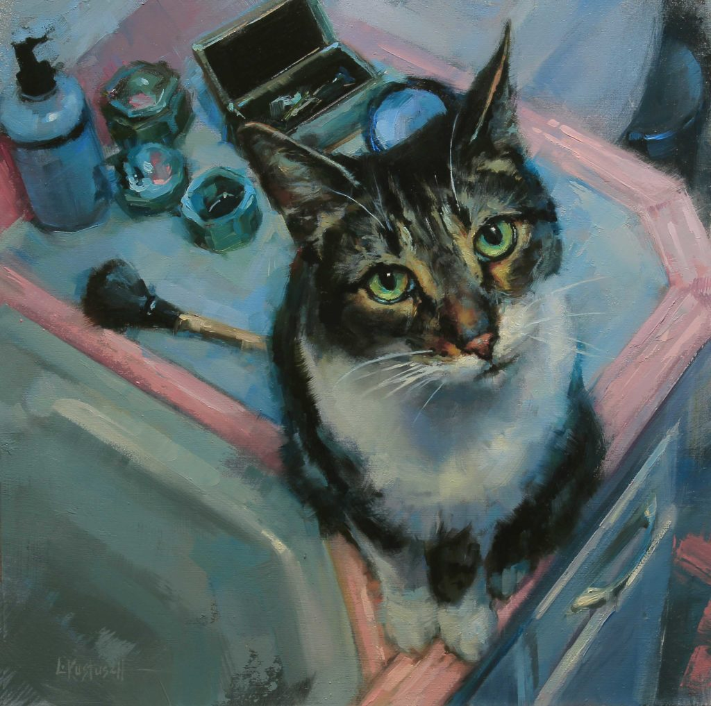 Art collecting - paintings of cats