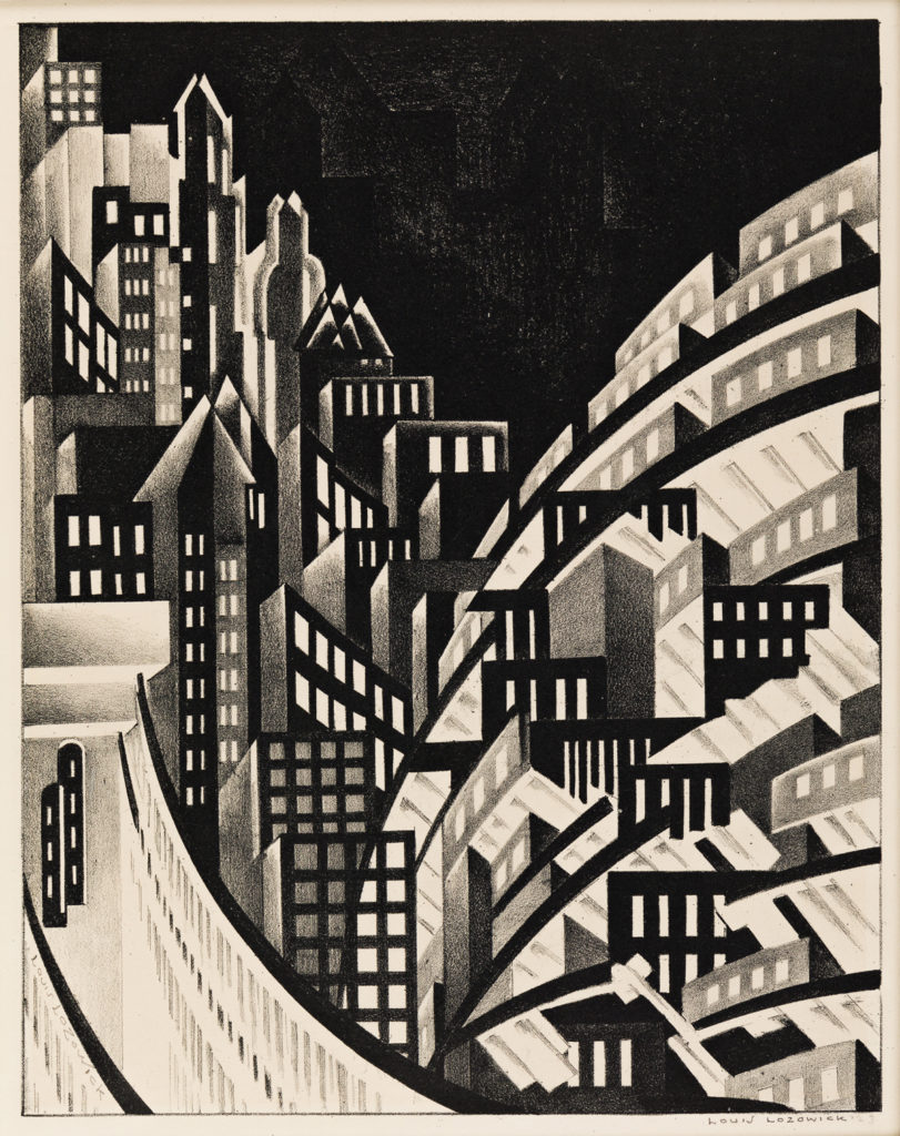 art auctions - Louis Lozowick lithograph - New York