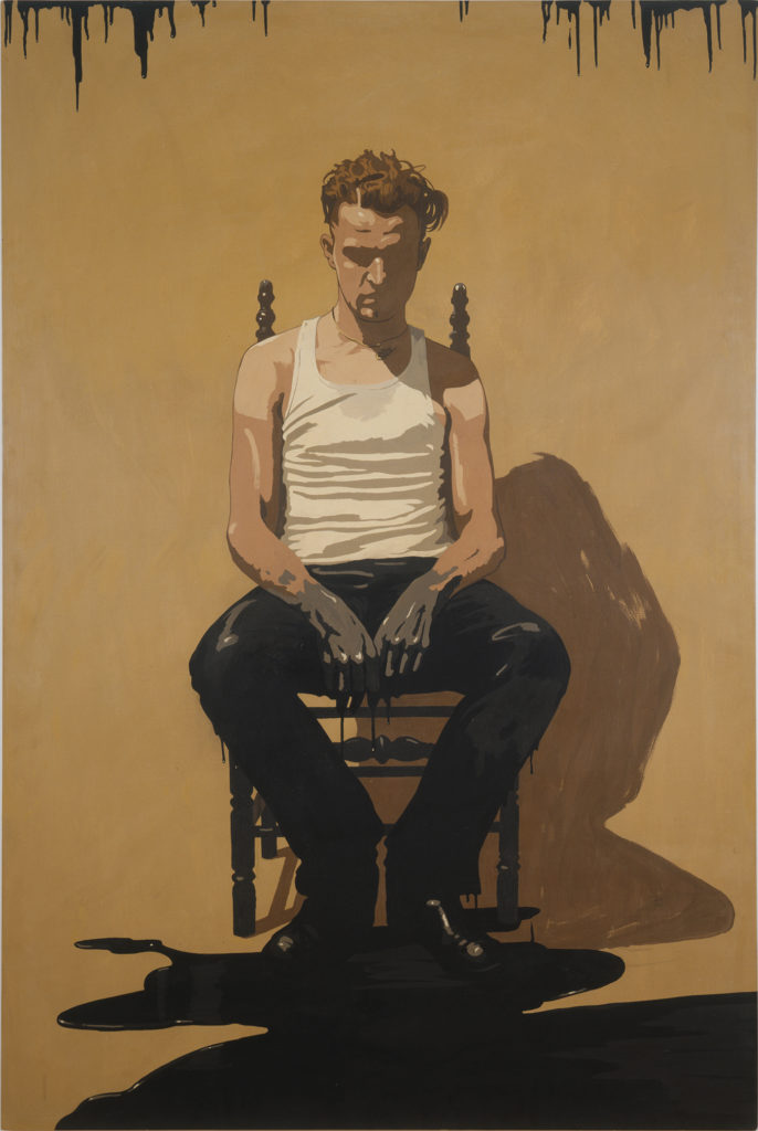 Painting of a young man sitting in a chair