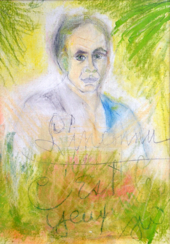Portrait painting by Tennessee Williams