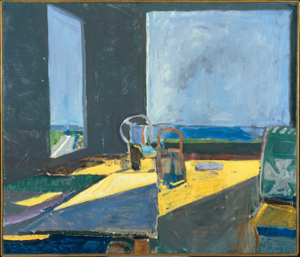 Richard Diebenkorn Interior with View of the Ocean painting