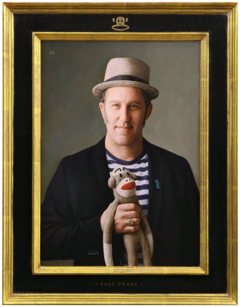 "John Swihart, ""Portrait of Paul Frank,"" painting"