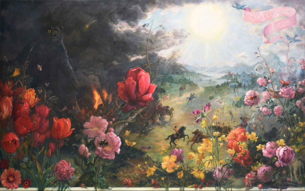 Large-scale floral painting